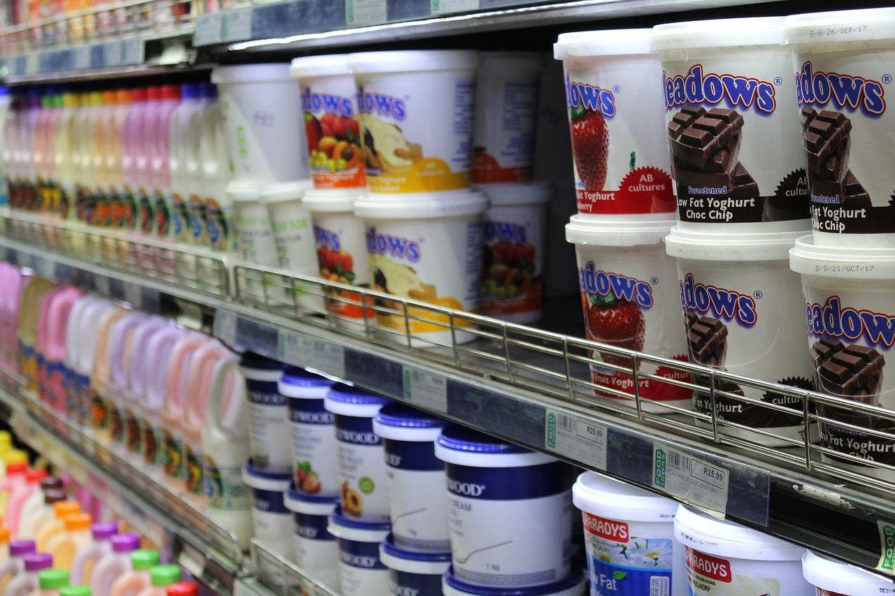 yogurt in a grocery